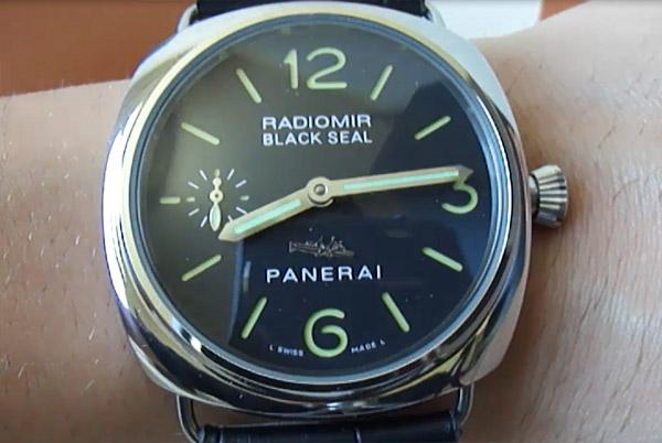 reloj panerai radiomir sello negro