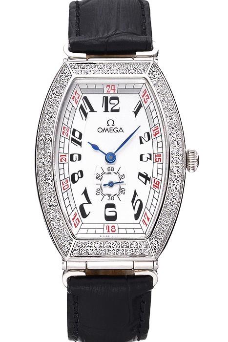 Omega Sochi Petrograd Esfera Blanca Diamantes Relojes De Imitación