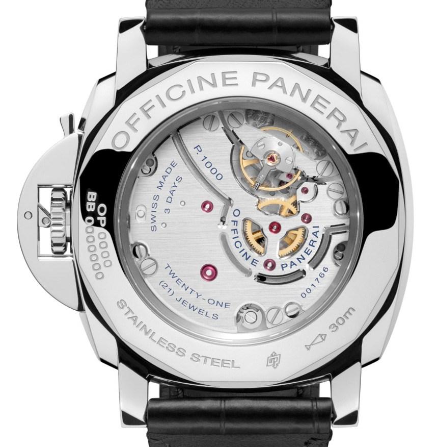 Panerai-Luminor-1950-3-Days-GMT-Black-Dial-Réplica-Movimiento