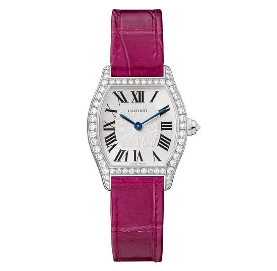 Cartier Tortue Damas Oro Blanco Replica Reloj Pequeño