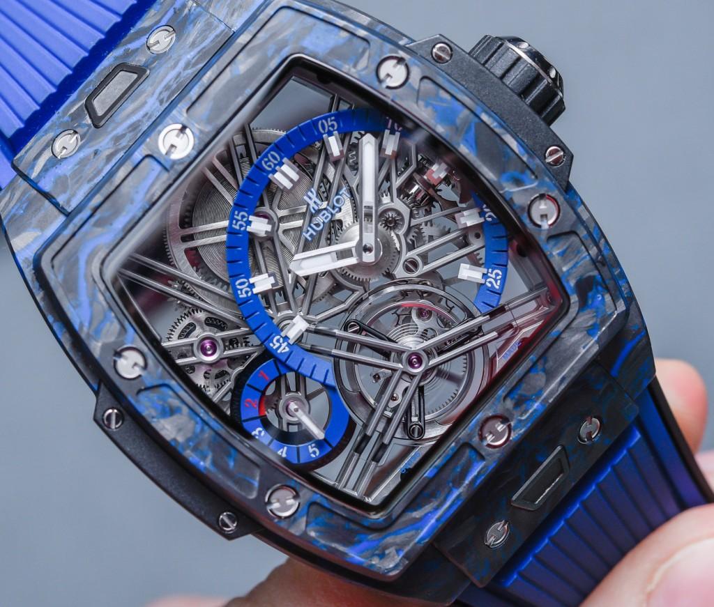 Hublot Spirit of Big Bang Tourbillon Carbon Black Blue Replicas De Relojes